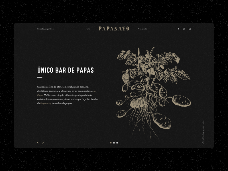 Single Page for Papanato Bar