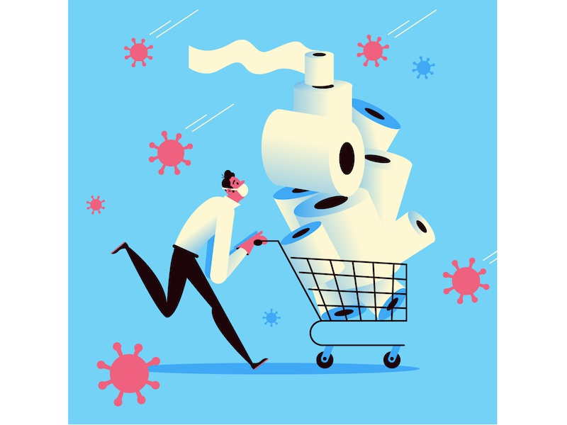 Toilet Paper Shopping by Pierre Kleinhouse