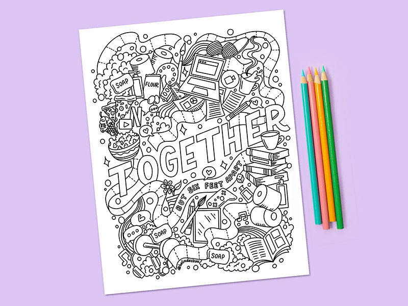 Stay Home & Color: A Collection Of Free Coloring Pages To Help You Relax  Dribbble Design Blog