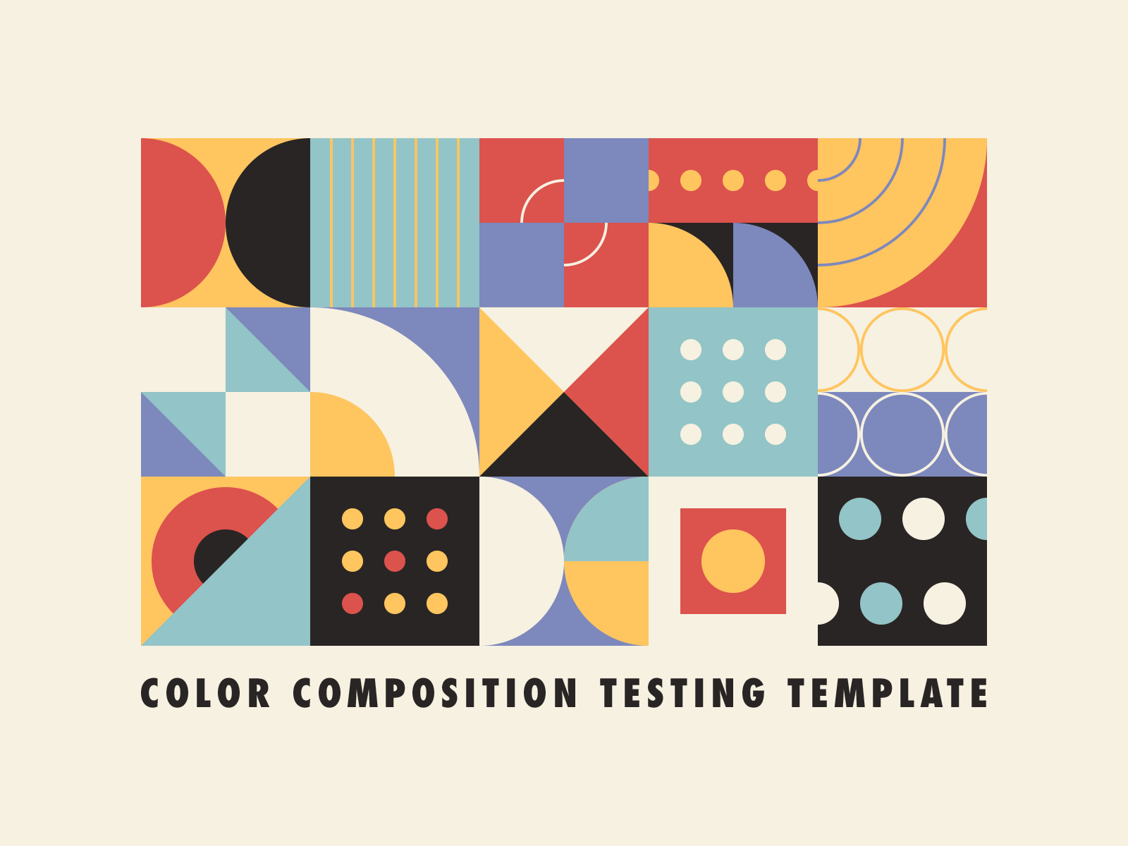 Color Composition Testing Templateby Justin Mezzell