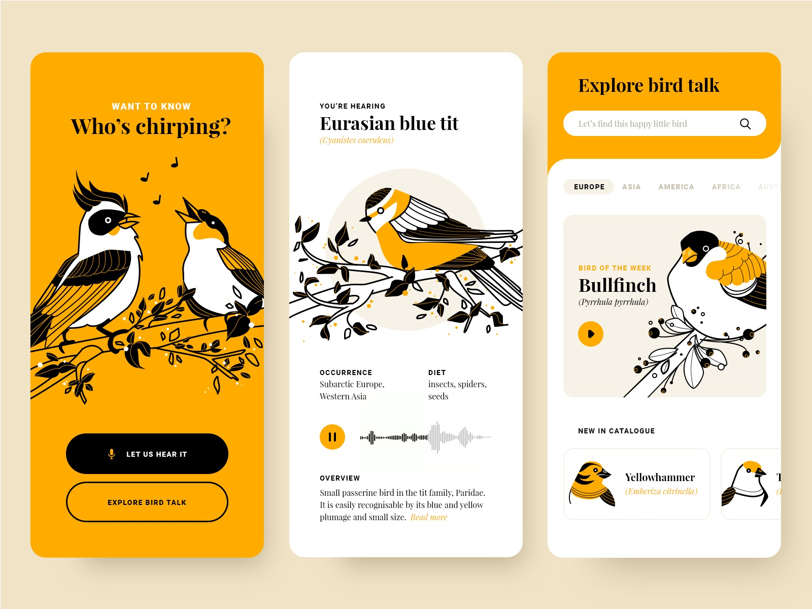 Who's chirping? by Marta Więckowska for Fireart Studio