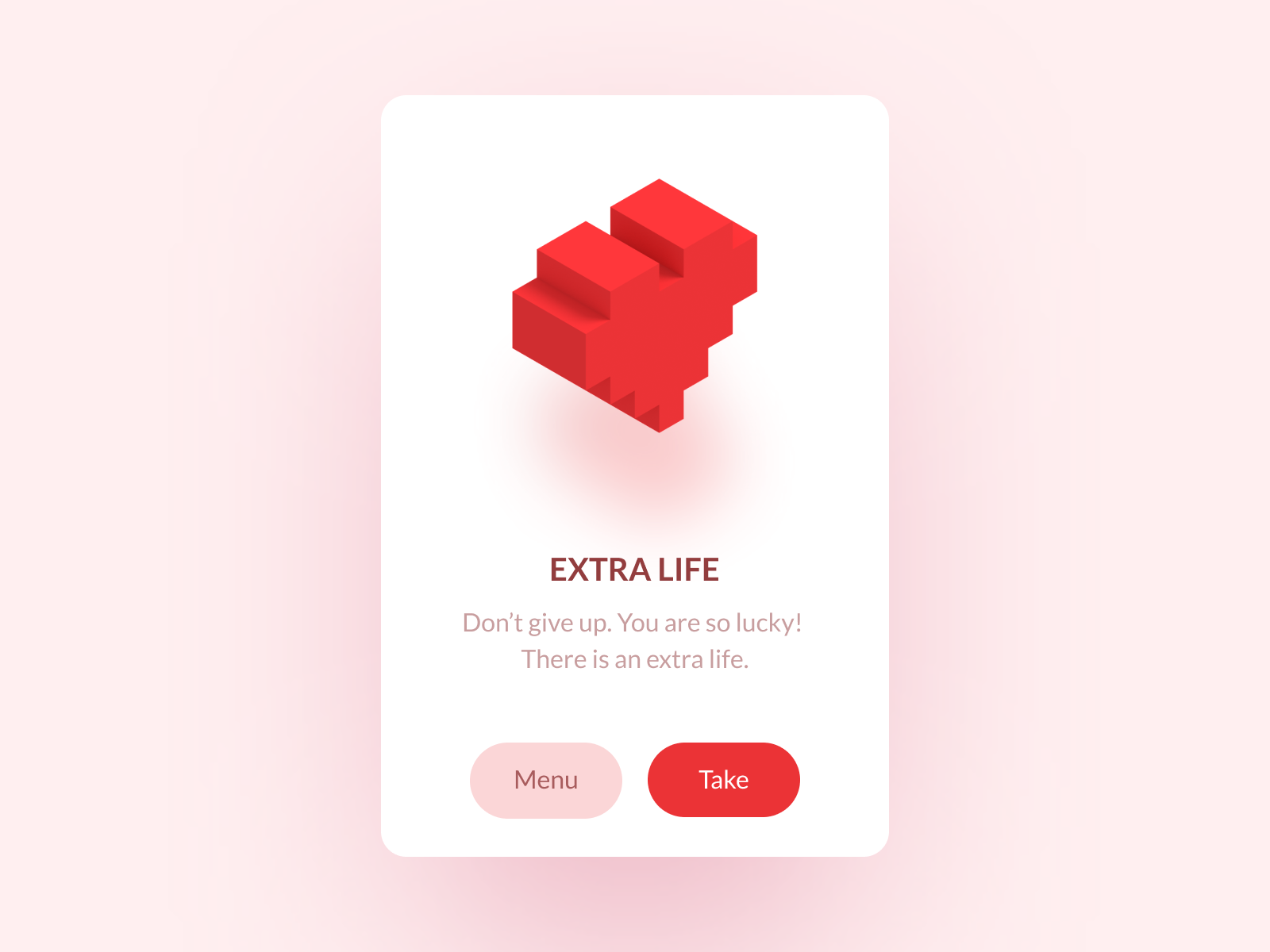 Extra life popup by Oleg Frolov