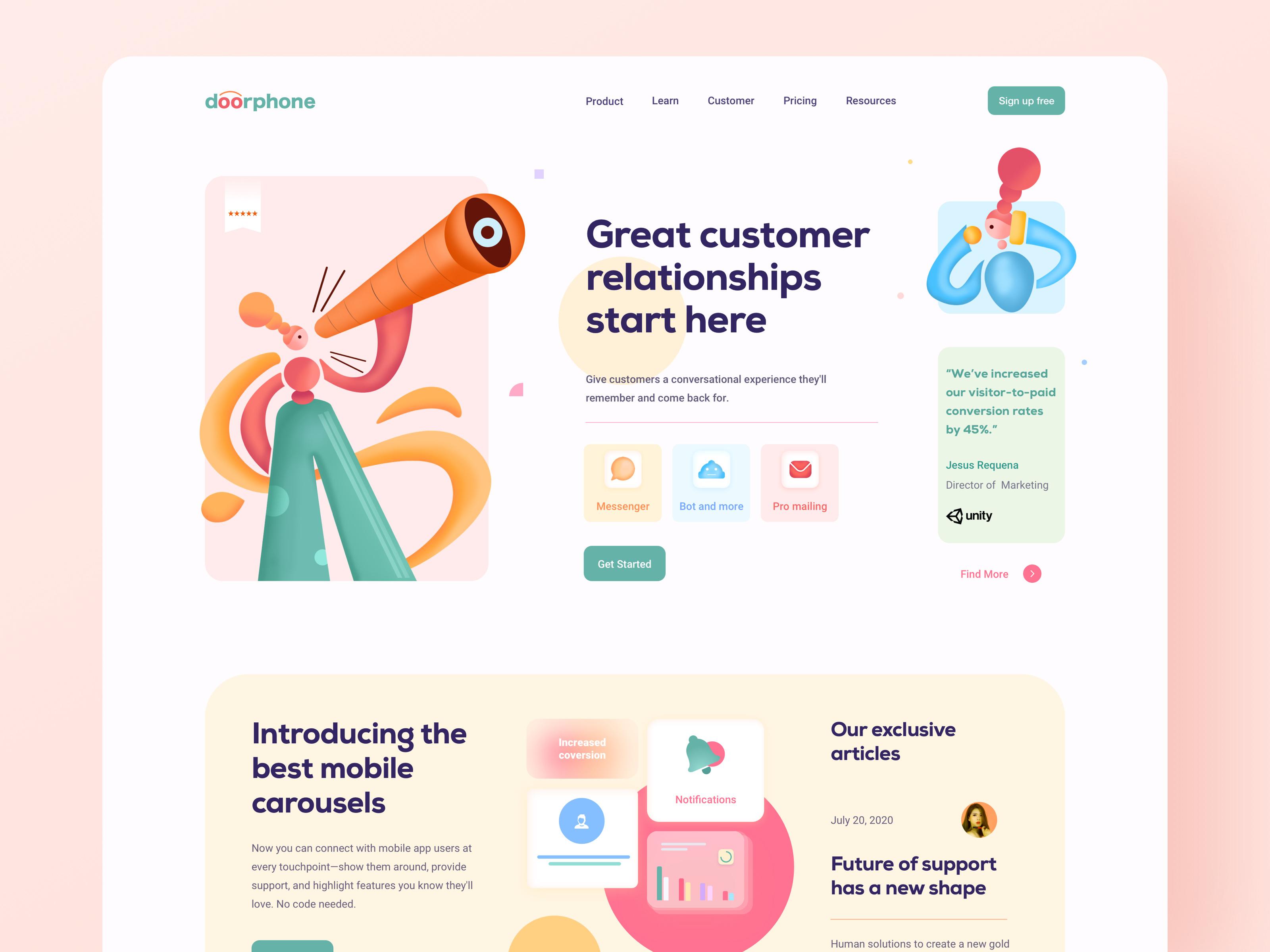 Customer Communication Platform by Zuairia Zaman for Orizon