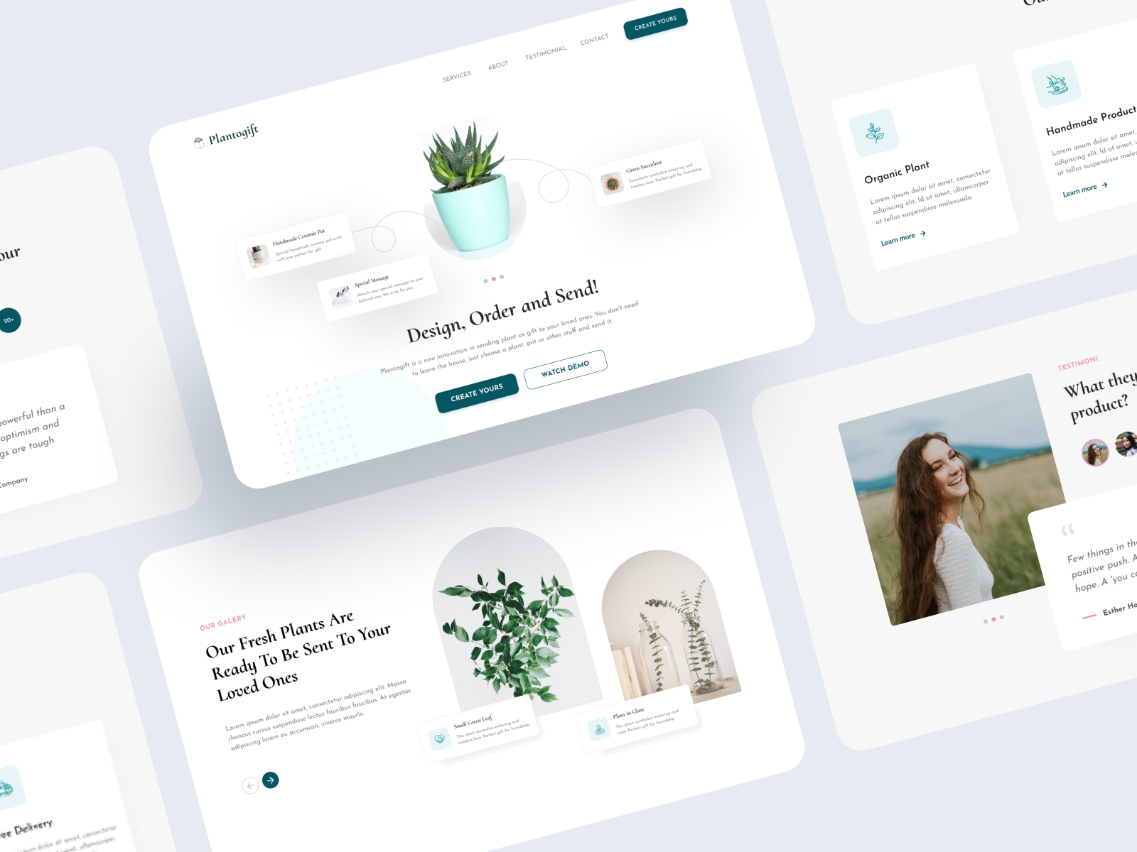 PlantoGift - Landing Page by Mohammad Firdaus
