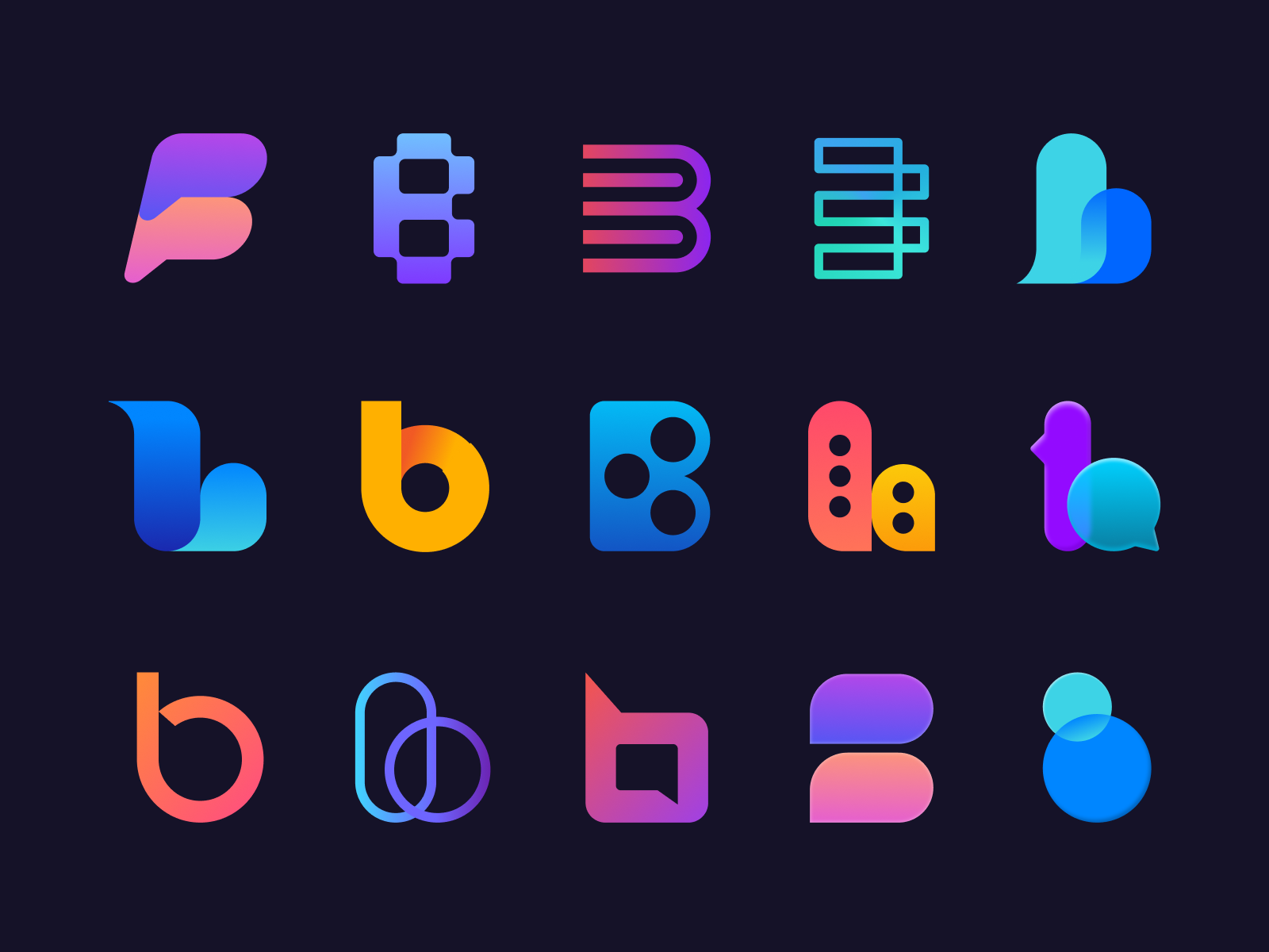 B Logos by Jordan Jenkins for unfold
