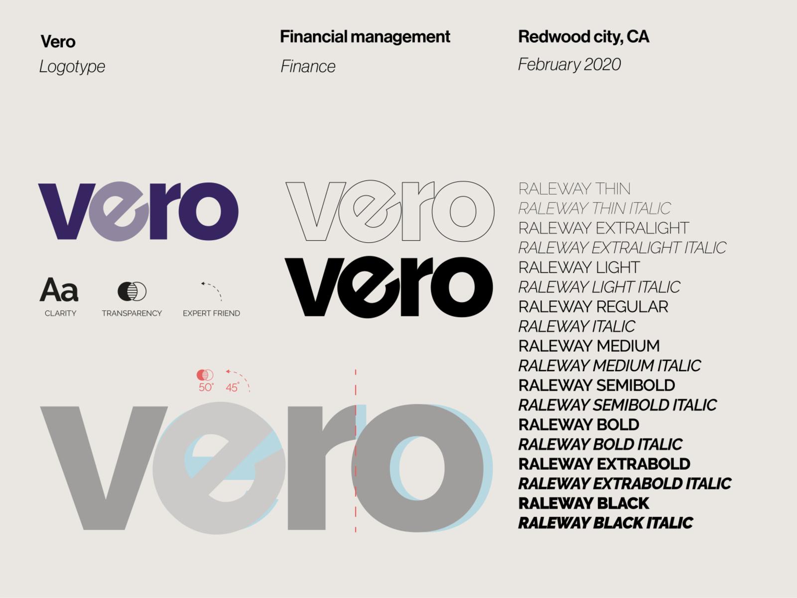 Vero-Logo von Antonio Calvino