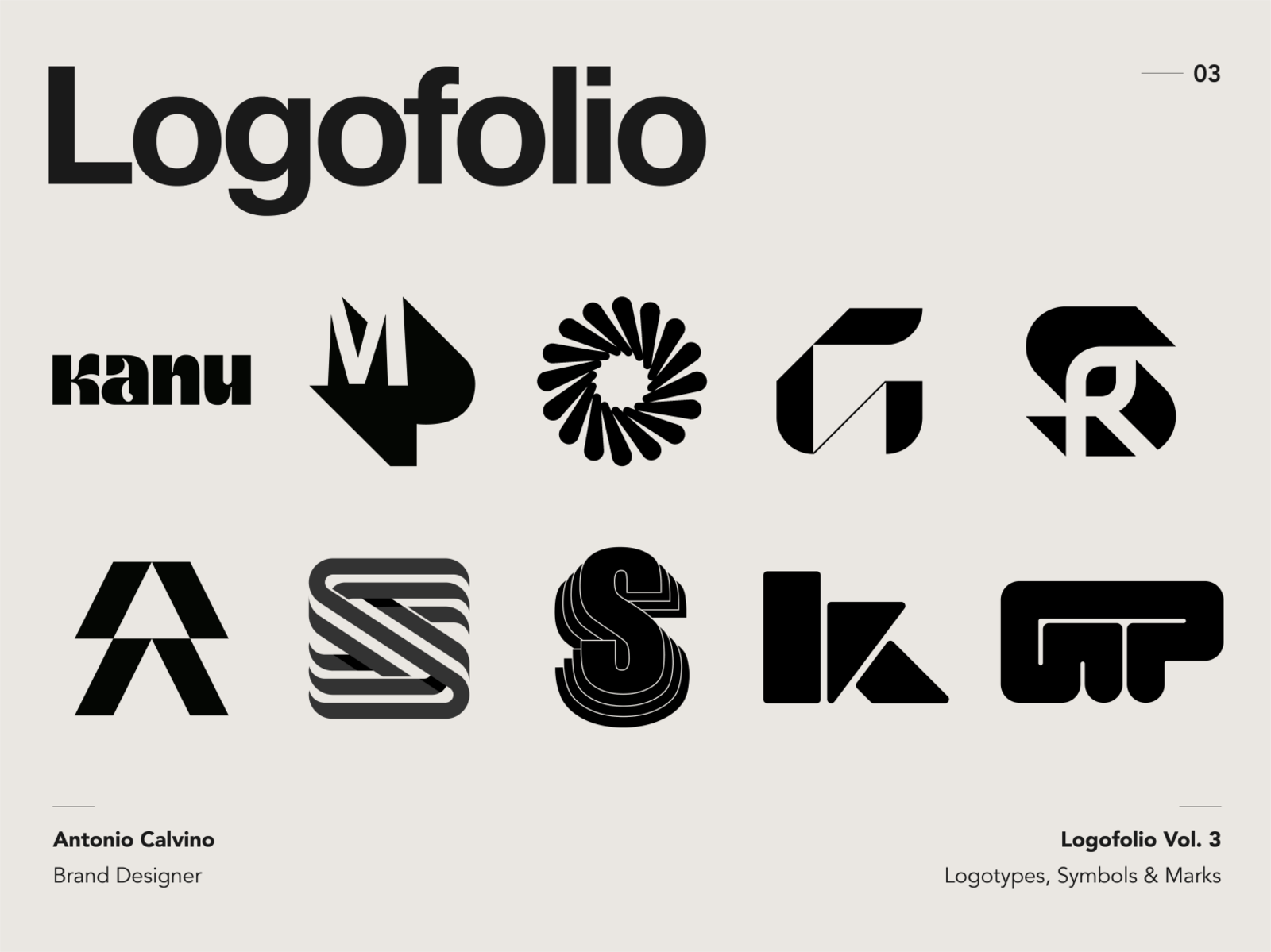 Logofolio Vol. 3 by Antonio Calvino