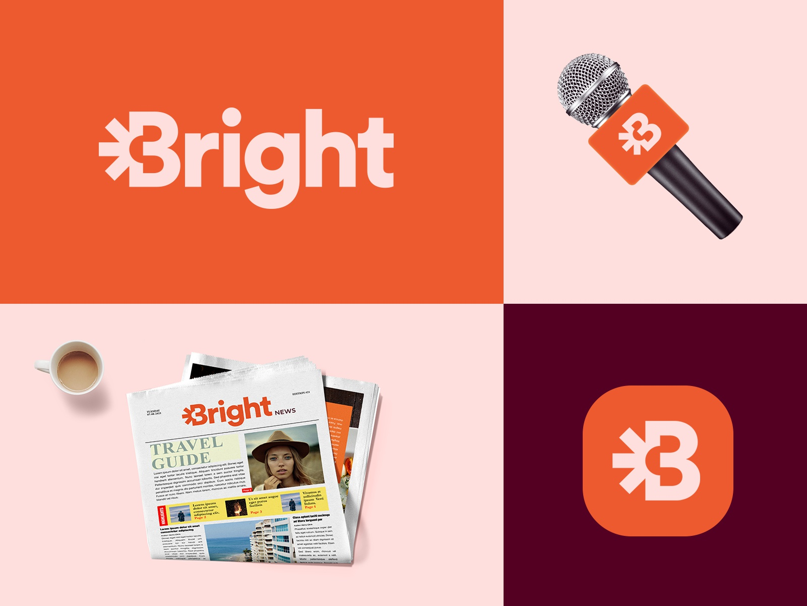 Logo and Brand Identity Design for BRIGHT News. by Aditya | Logo Designer