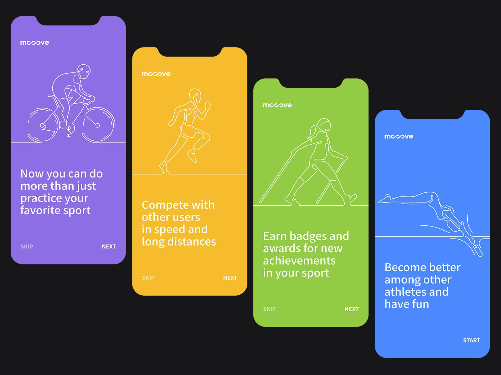 Mooove | Sport tracker and sport community app by Biff Tenon