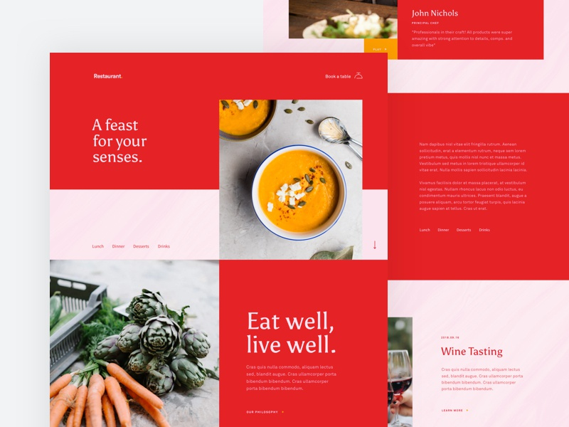Restaurant - Home Page by Stefano Peschiera