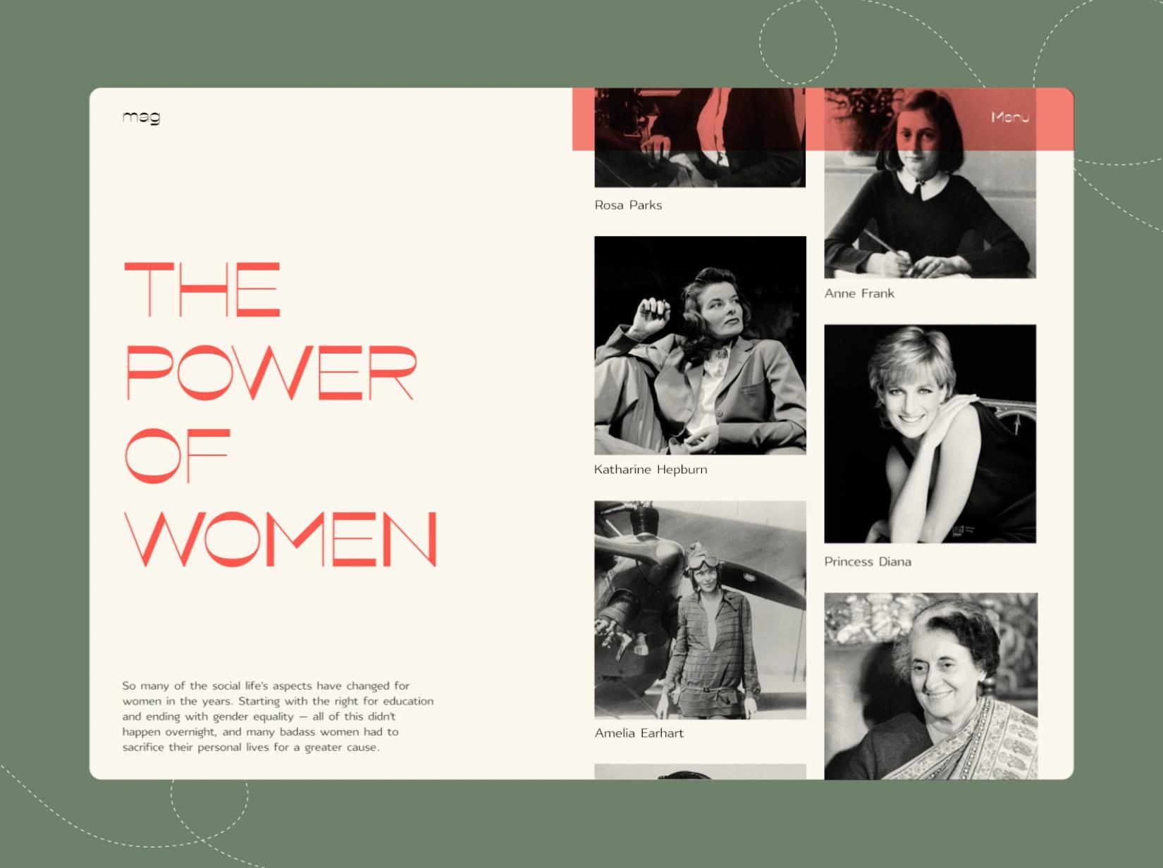 Powerful Women Website Gallery by tubik