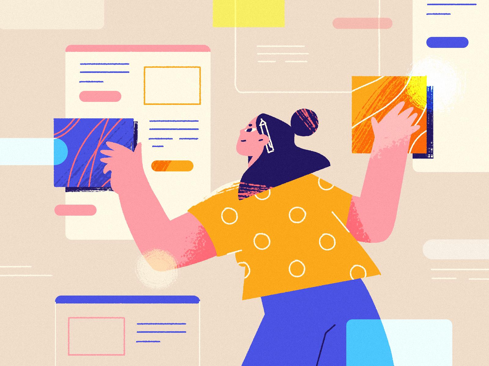 Illustration in Web Design by Julia Hanke