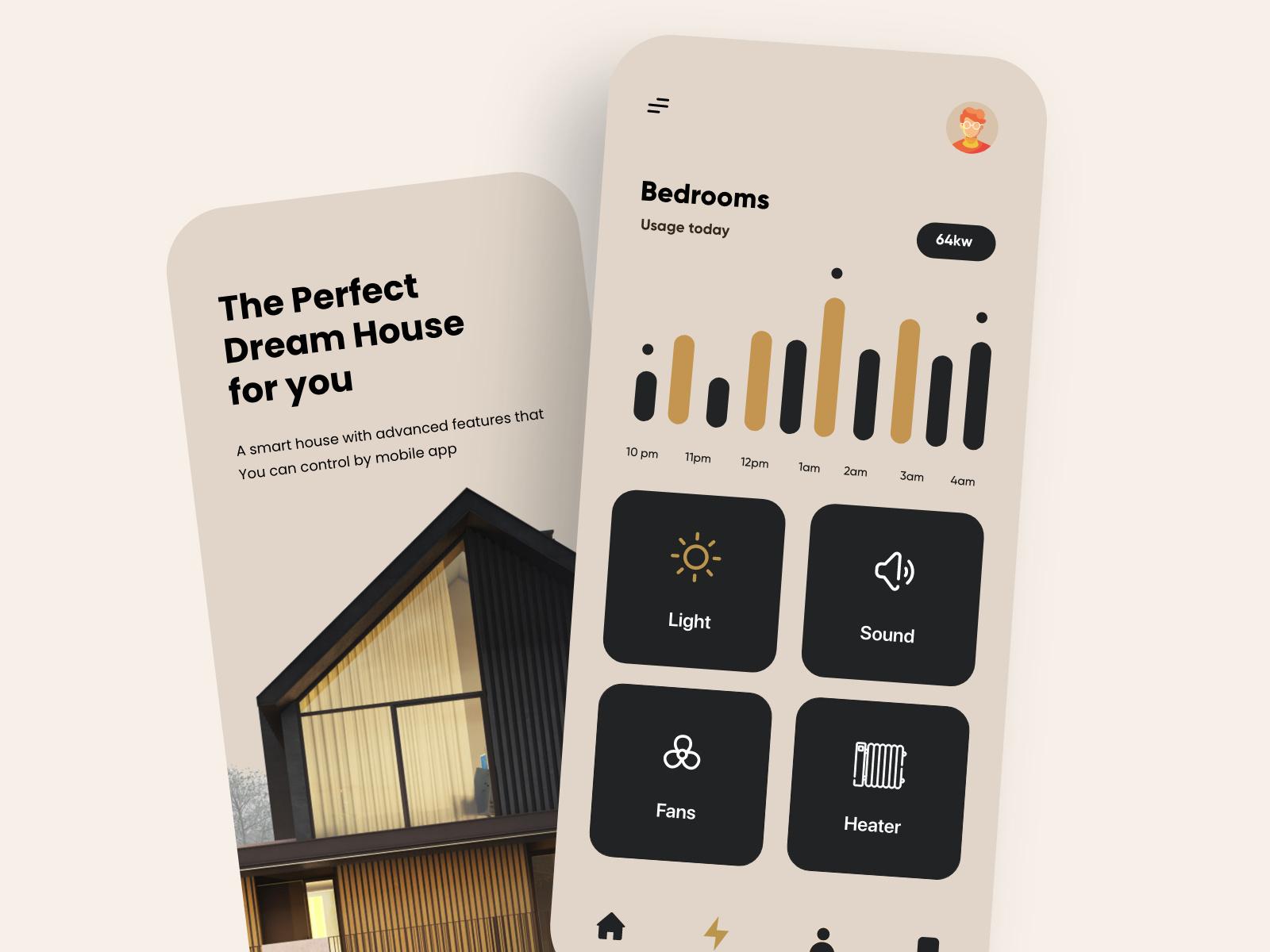 Smart Home Mobile App Design by Ghulam Rasool