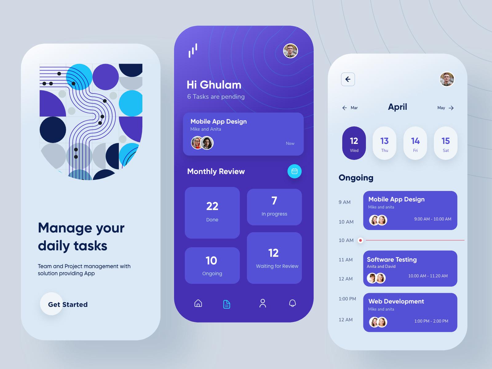 Task Manager Mobile App Design by Ghulam Rasool