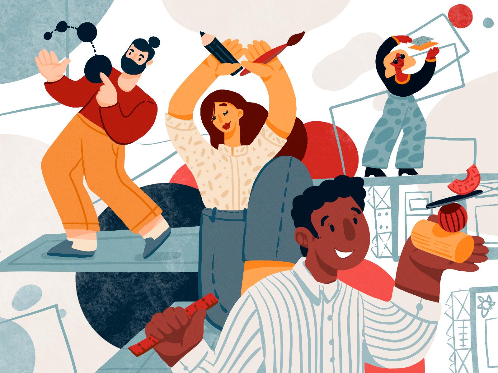 Designers Diversity Illustration