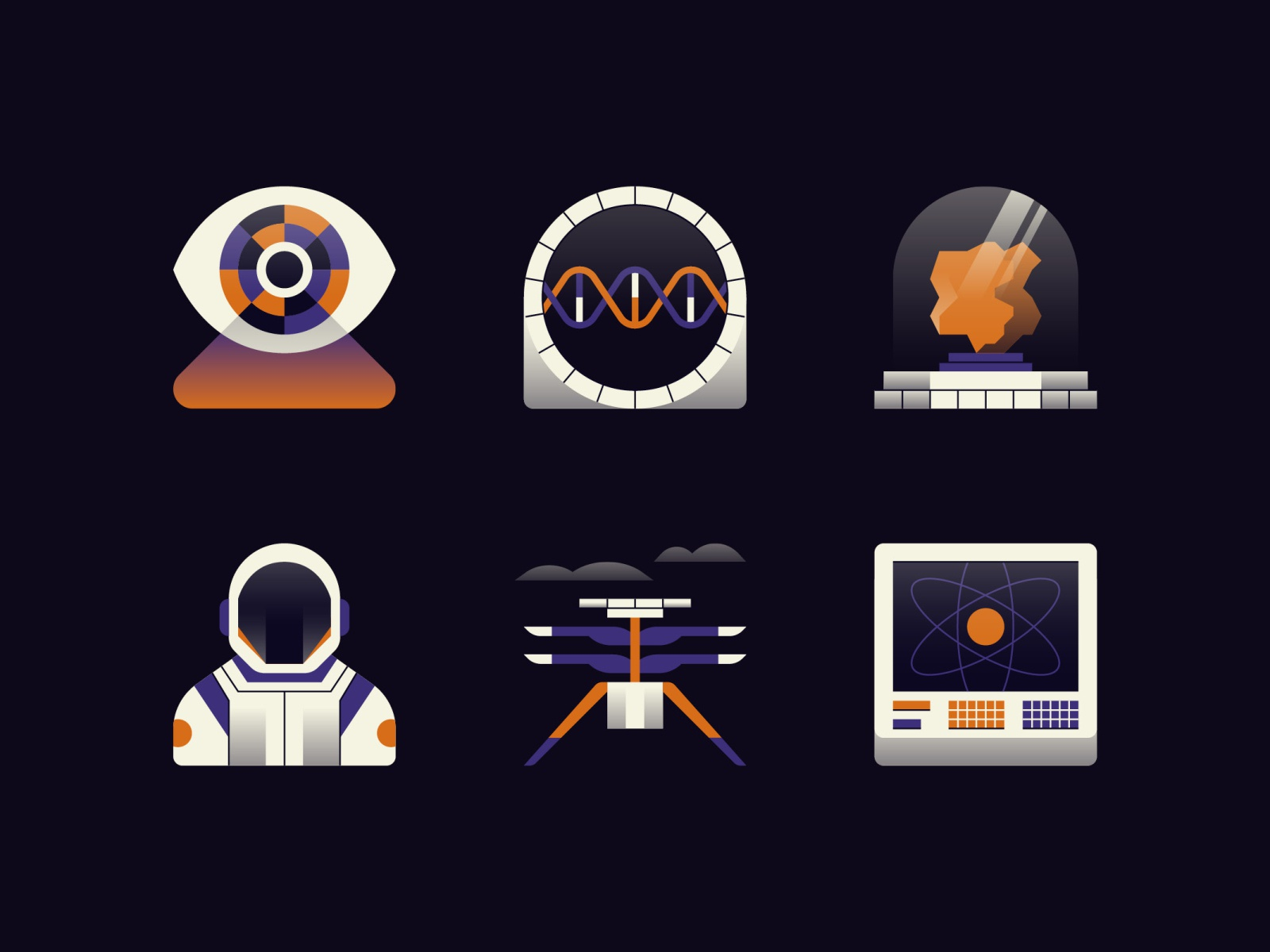 Mars Exploration Icons by James Round