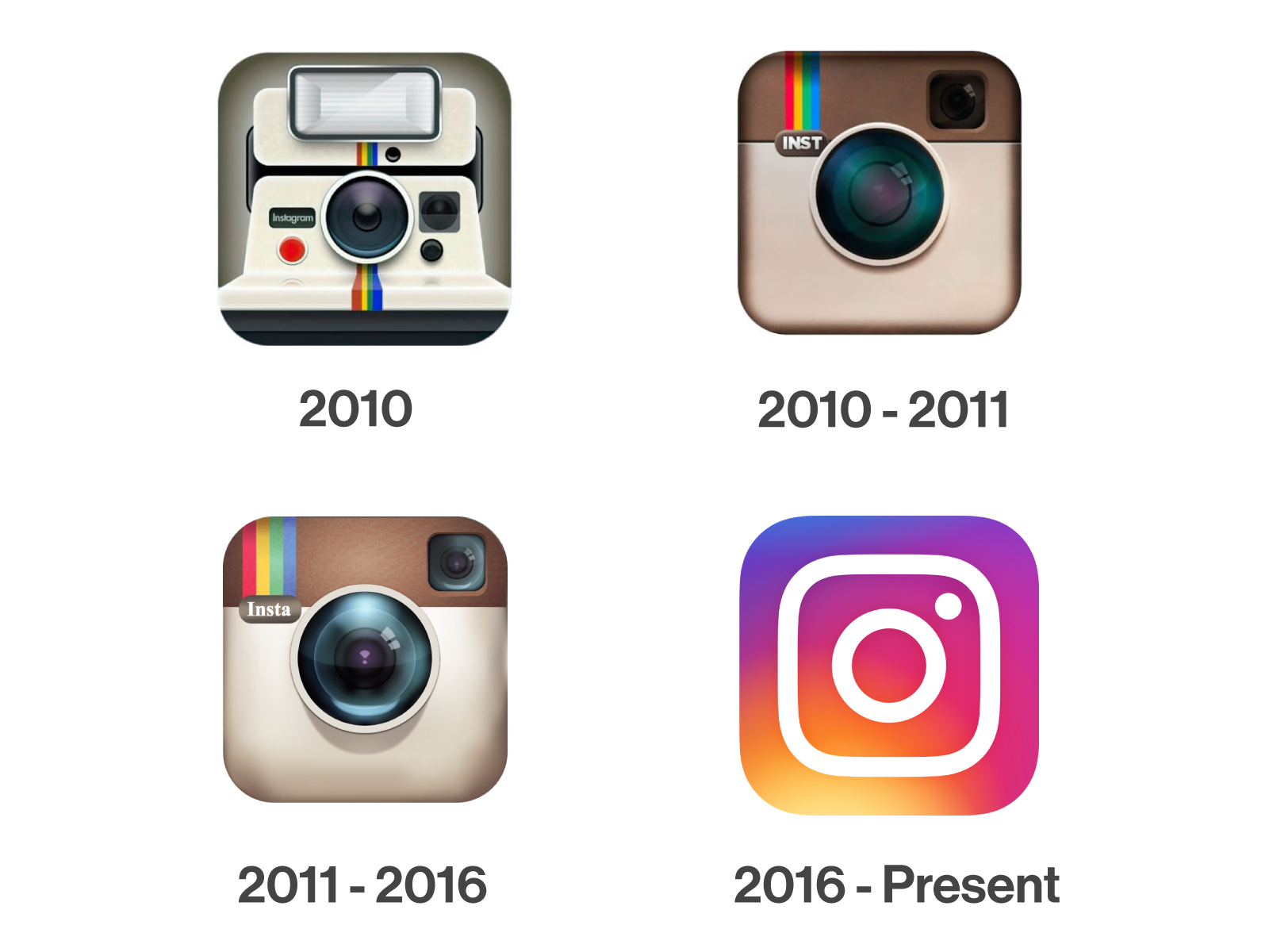Instagram logo evoultion