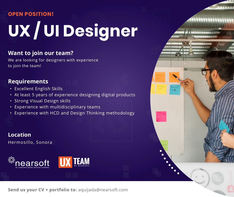 Ux Ui Designer At Nearsoft Inc Hermosillo Sonora Dribbble Design Jobs