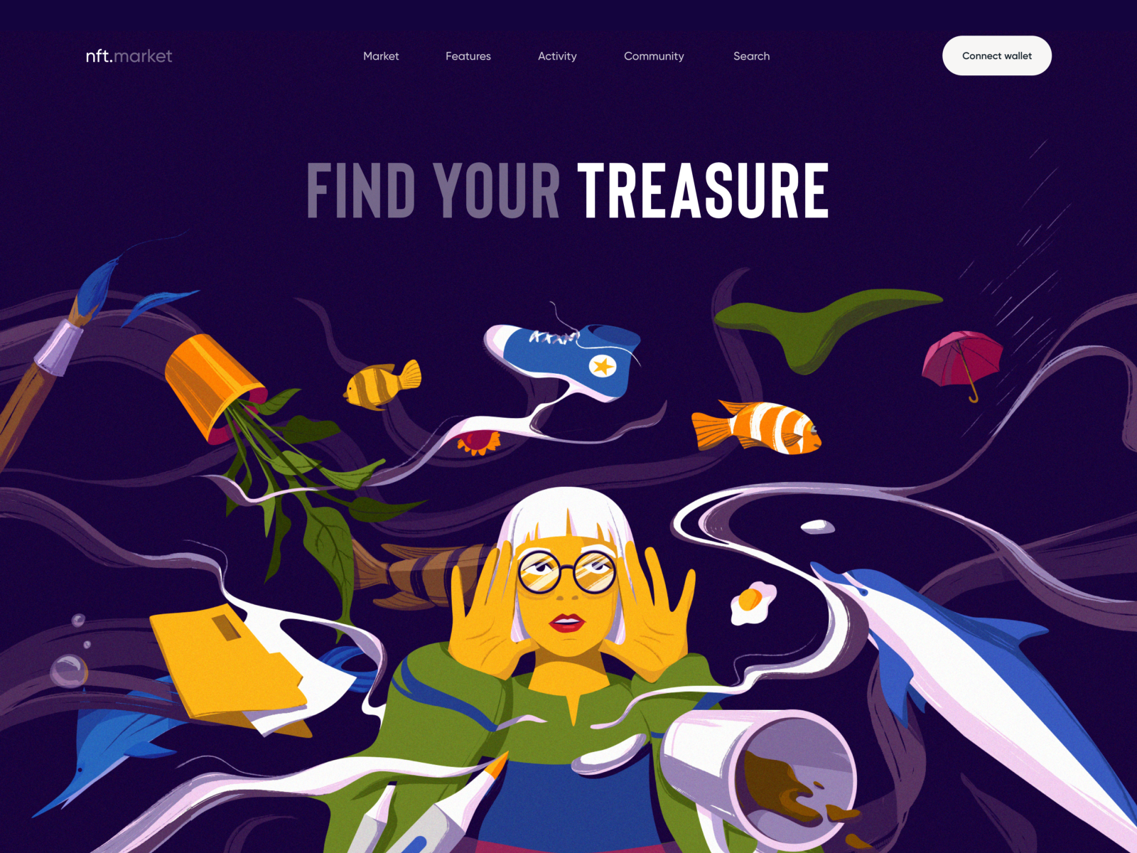 NFT Marketplace with Illustrations