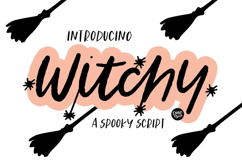 spooky brush font