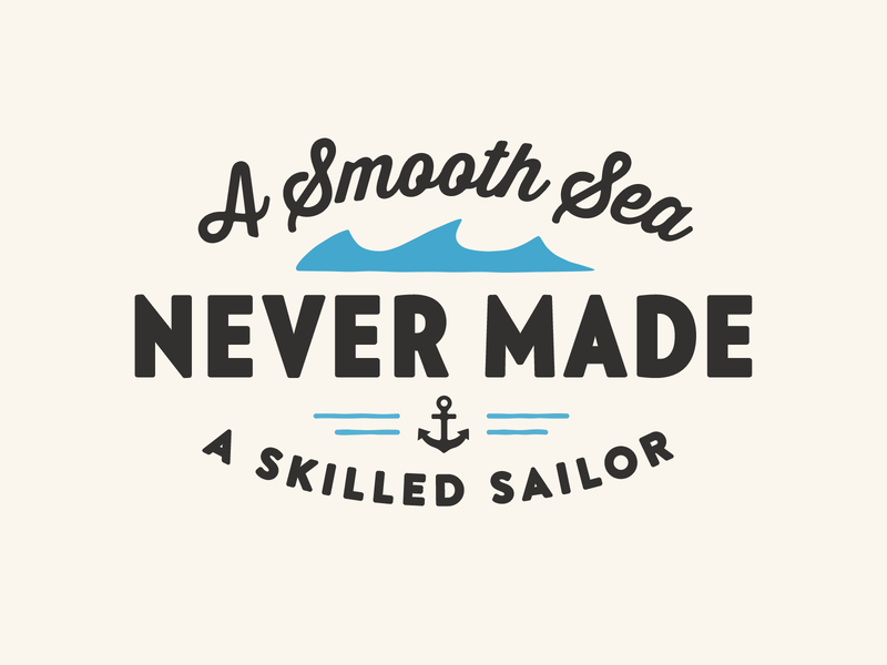 A Smooth Sea quote nautical anchor vector illustration advencher