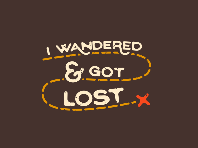 Wander Lost illustration advencher vector