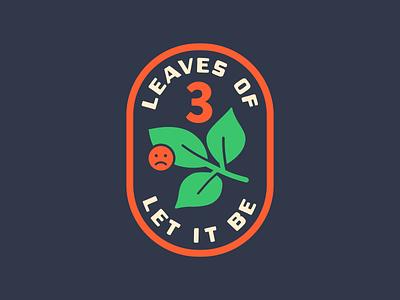 Three patch illustration advencher vector