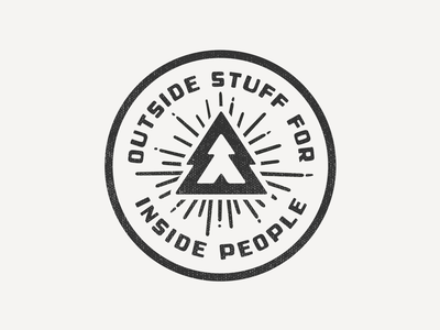 Outside stuff for inside people stamp seal vector illustration advencher