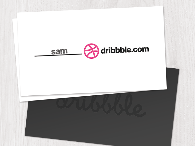 Front & Back dribbble businesscard neuehaasgrotesk
