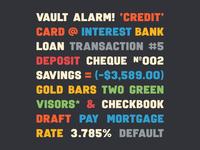 Vault Alarm Test sanserif typeface vaultalarm typedesign font type simplebits