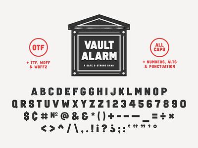 Introducing Vault Alarm typedesign typography type vaultalarm advencher font simplebits