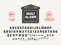 Introducing Vault Alarm typedesign typography type vaultalarm advencher font simplebits