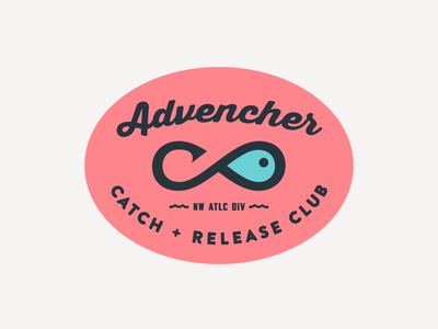 Advencher Catch + Release Club sticker badge vector advencher
