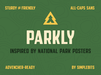 Parkly Font typedesign font simplebits
