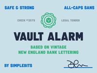 Vault Alarm font sans-serif font typedesign simplebits