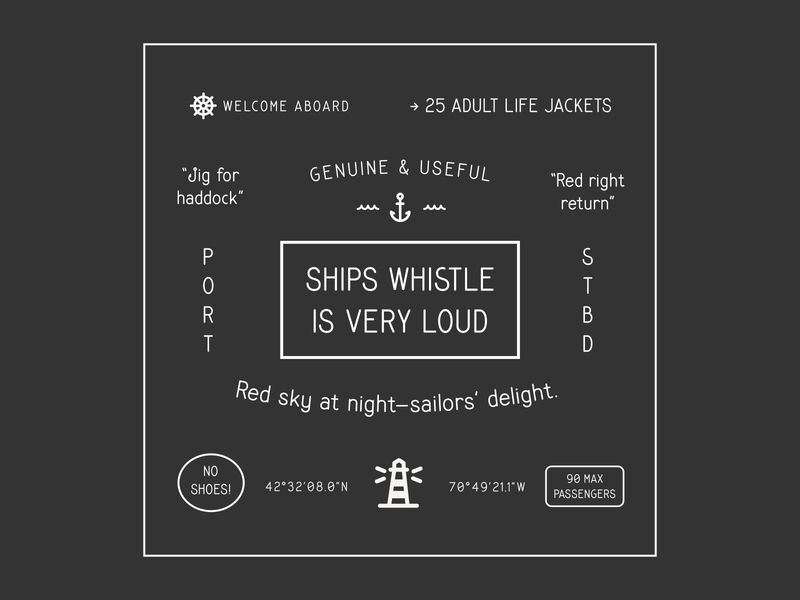 Ships Whistle Coming Soon typedesign font simplebits