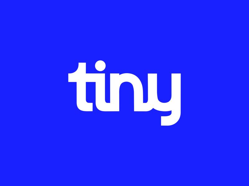 Tiny Logo lettering wordmark logo vector