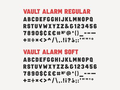 Vault Alarm Soft typeface design typedesign font simplebits