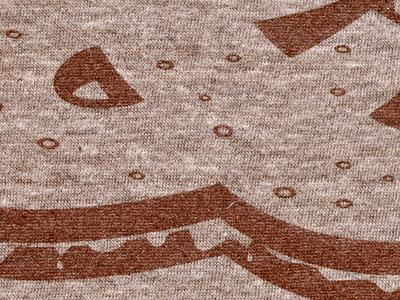 Printed ampersandwich shirt design brown triblend silkscreen