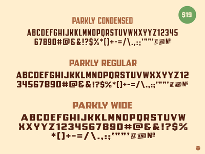 Parkly vector illustration sasquatch bigfoot nationalpark parkly typedesign font simplebits