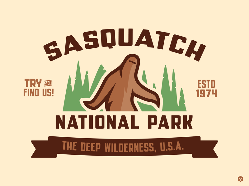Parkly vector illustration sasquatch bigfoot nationalpark parkly typedesign font simplebits