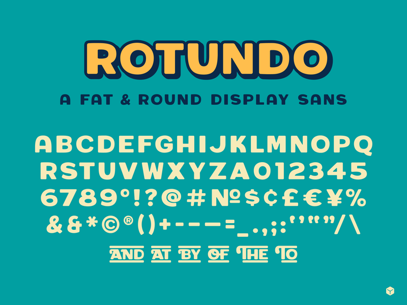 Fat & Round rotundo typedesign font type simplebits
