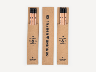 Genuine & Useful Pencil Packs pencils shipswhistle rotundo simplebits
