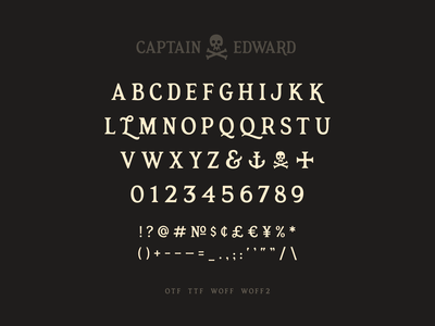 Captain Edward Font display serif typedesign font simplebits