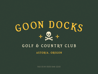 Goon Docks CC logo lockup typedesign font simplebits