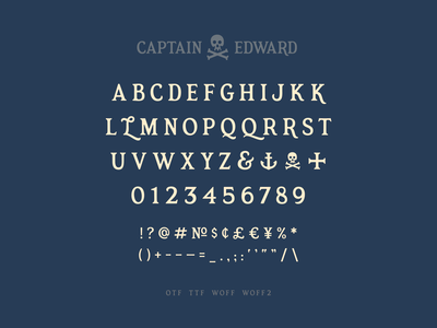 Captain Edward Font pirate serif typedesign font simplebits