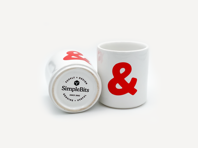 Ceramic Ampersand Mug rotundo ampersand mug simplebits