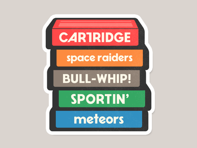 Cartridge font sticker sticker video games typography type cartridge font simplebits
