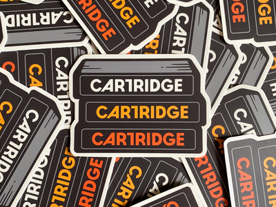 Cartridge Font Stickers (coming soon) sticker type cartridgefont font simplebits