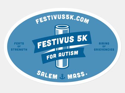 Fesitivus 5K 2-color sticker